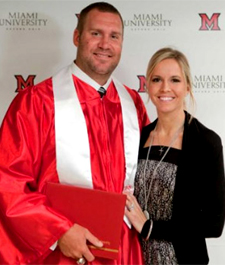 May, 2012: Ben and Ashley at his graduation.